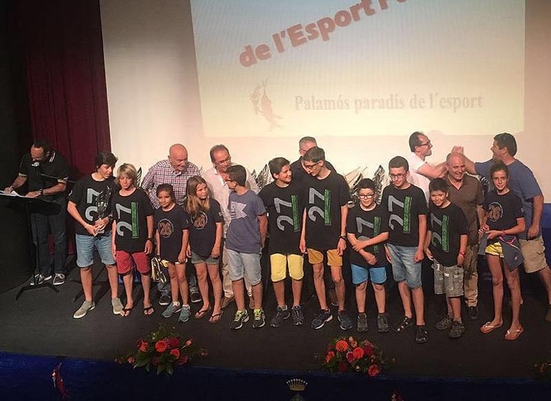 Imatge d'una edició de la Gala de l'Esport Palamosí a La Gorga, en què es reconeixen entitats i esportistes de la vila. (Foto: Ajuntament de Palamós).