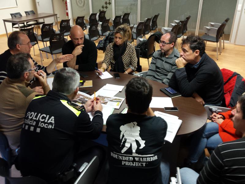 Els diferents responsables municipals, reunits aquest matí. (Foto: Ajuntament de Palamós).