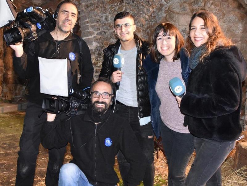 Equip de TV Costa Brava. (Foto: L. Campos).