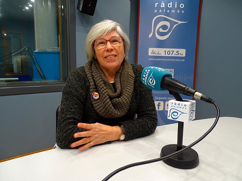 La regidora de la CUP a l'Ajuntament de Palamós, Roser Huete, avui en el programa