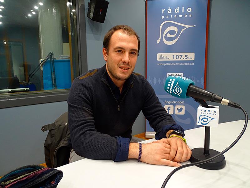 Josep Rochés, avui als estudis de Ràdio Palamós.