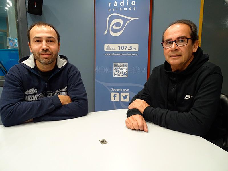 Josep Olivé i Martí Colls, de la junta directiva de l'Associació de Veïns de Sant Joan.