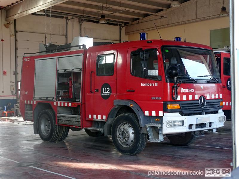 Vehicle del Parc de Bombers de Calonge.