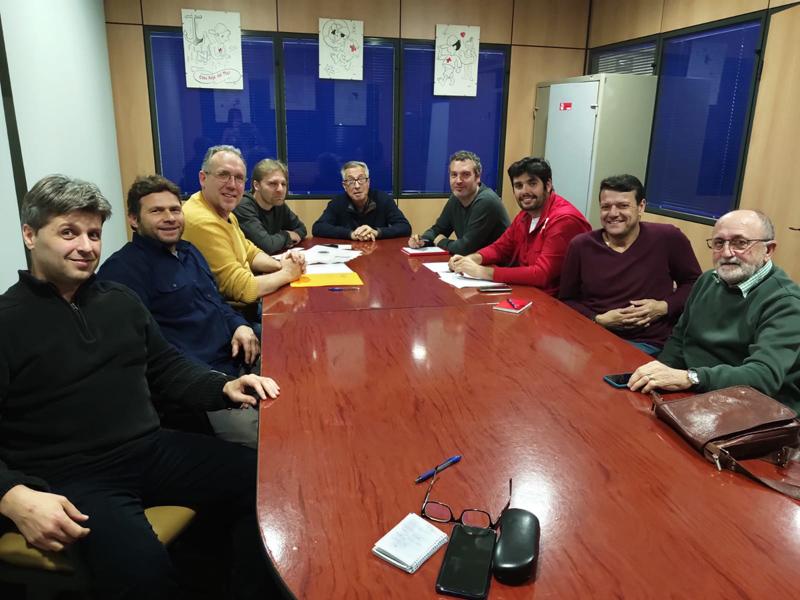 Una de les reunions constitutives del nou cos de Protecció Civil. (Foto: Ajuntament de Palamós).