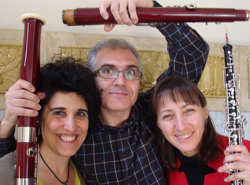 Queralt Roca, Lleonard Castelló i Dolors Almirall formen el Trio de Canyes Vidalba. (Foto: surtdecasa.cat).