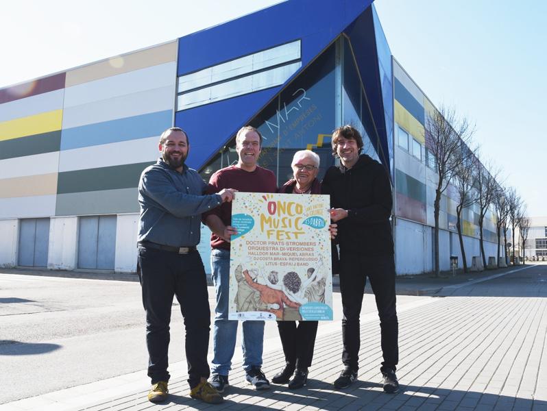 Presentació del cartell de l'Oncofest. (Foto: Ajuntament de Calonge i Sant Antoni).