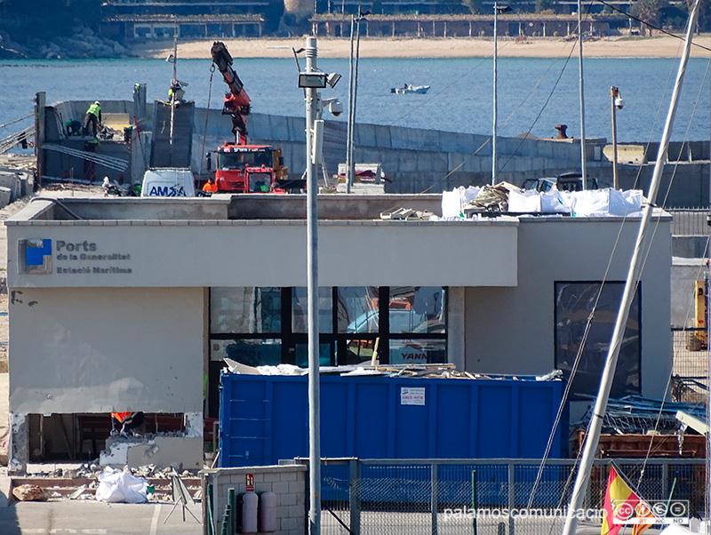 L'estació marítima de Palamós, en una imatge d'aquest matí.
