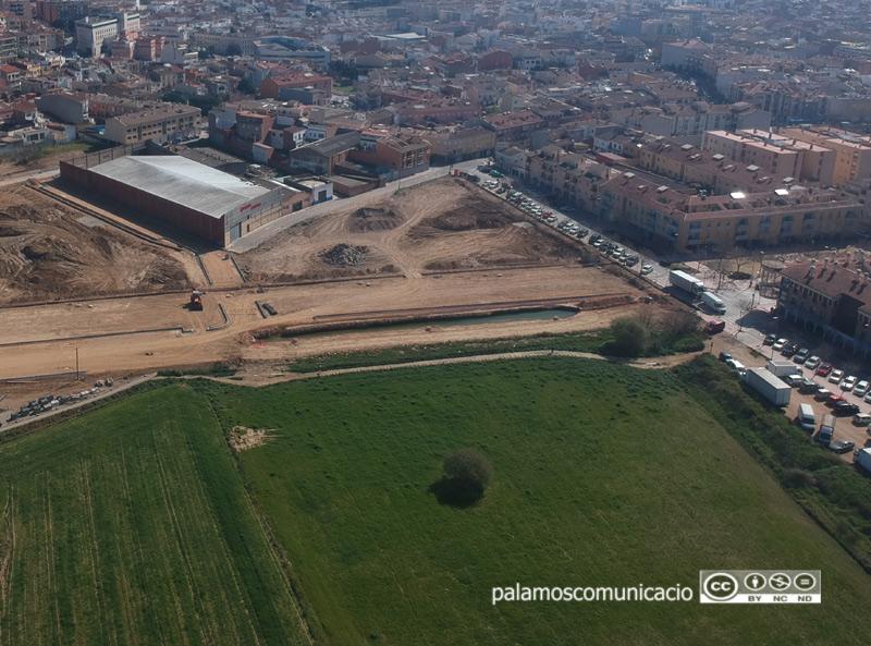 Espai de creixement entre el pla de Nau i l'Eixample on està previst construïr la futura estació d'autobusos.