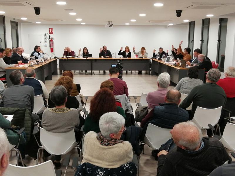 Ple de l'Ajuntament de Calonge i Sant Antoni, ahir. (Foto: Ajuntament de Calonge i Sant Antoni).