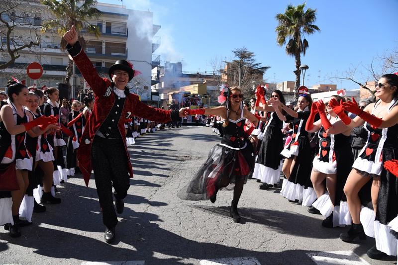 Un instant de la rua de Sant Antoni, ahir al matí. (Foto: Ajuntament de Calonge i Sant Antoni).
