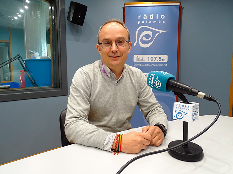 El portaveu del PSC a l'Ajuntament de Palamós, Josep Coll.