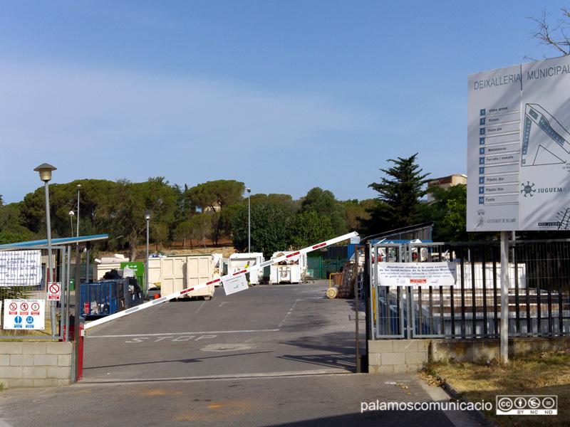 Una vista de la deixalleria municipal de Palamós.