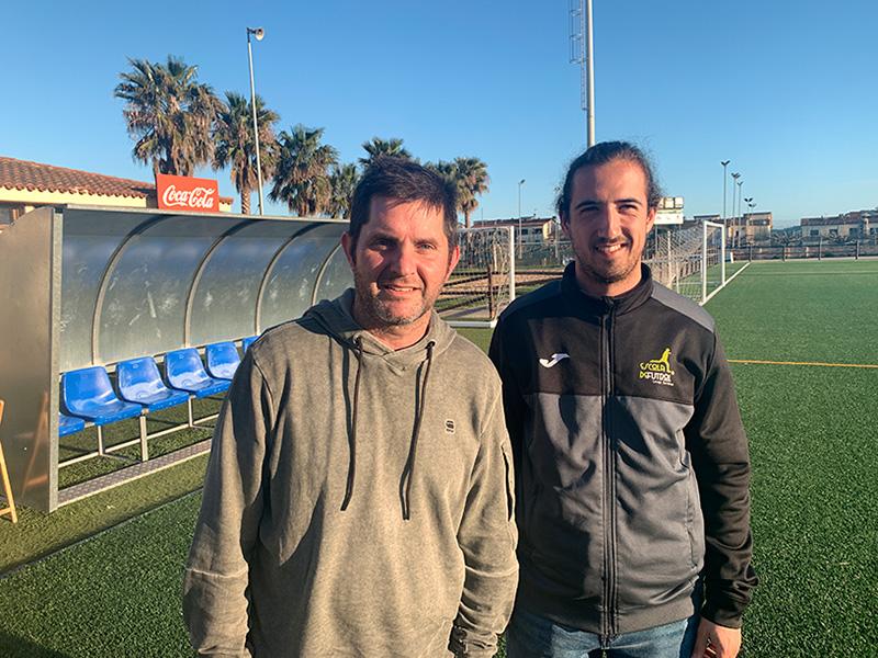 Agustí Soto i Lluís Ramírez, president i coordinador de futbol 7 de l'Escola de Futbol de Calonge i Sant Antoni.