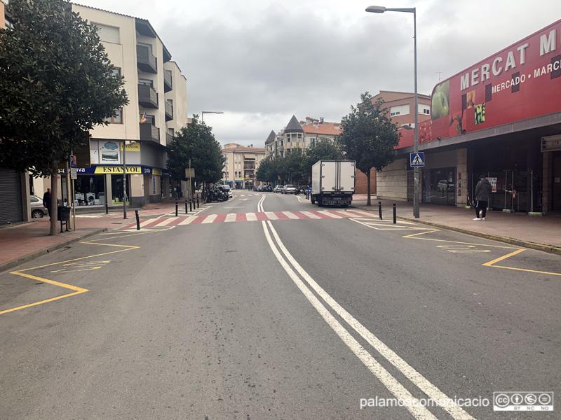 L'avinguda de Catalunya buida aquest matí.