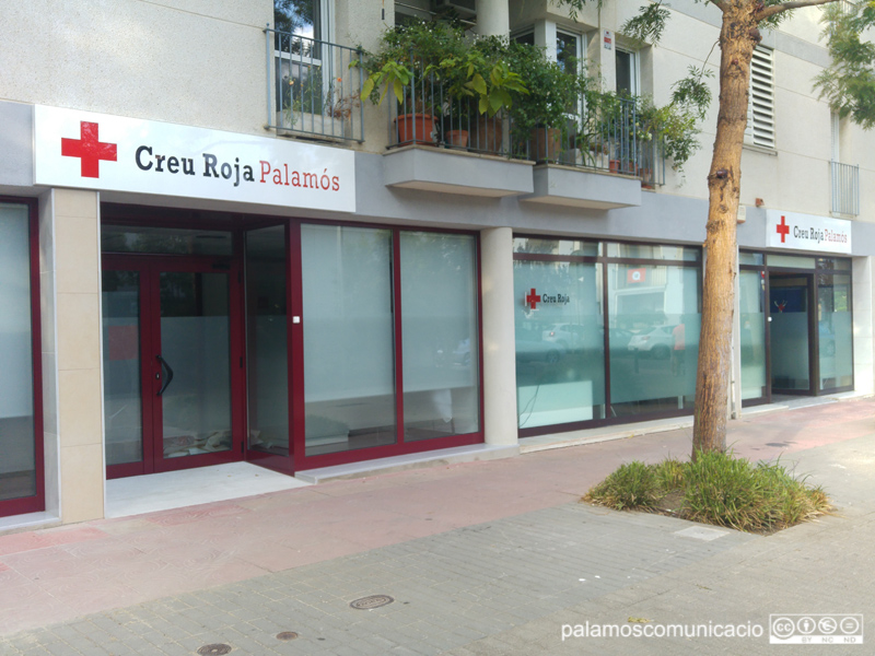 Local de Creu Roja Palamós al carrer de la Mercè.