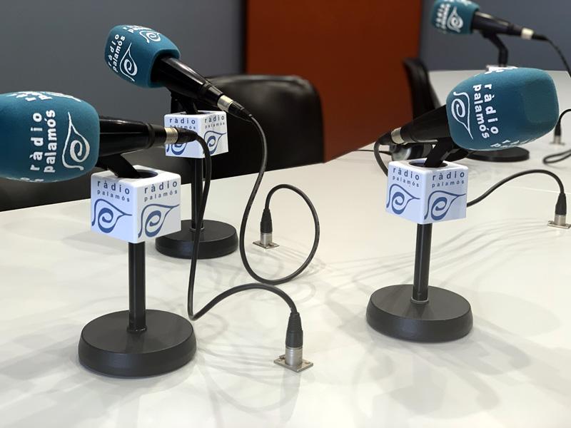 El locutori de l'estudi 1 de Ràdio Palamós.