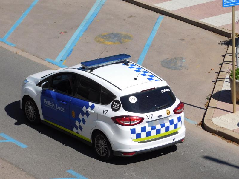 Una patrulla de la Policia Local de Palamós.