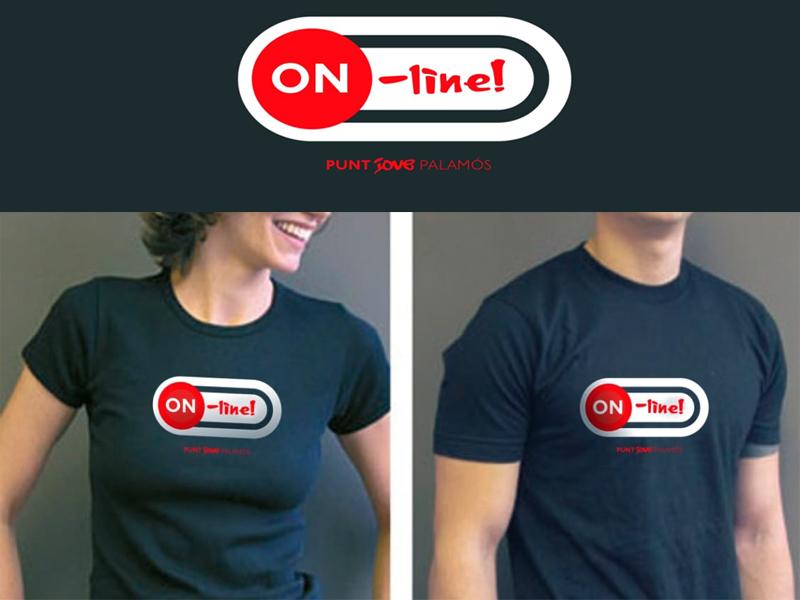 S'ha fet samarretes amb el logo del Punt Jove Online que se sortejaran entre els participants. (Foto: Punt Jove Palamós).