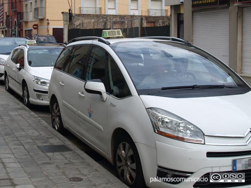 Parada de taxis a Palamós.