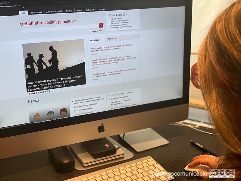 Qualsevol consulta sobre tràmits laborals es pot fer al web de la Generalitat, treball.gencat.cat.