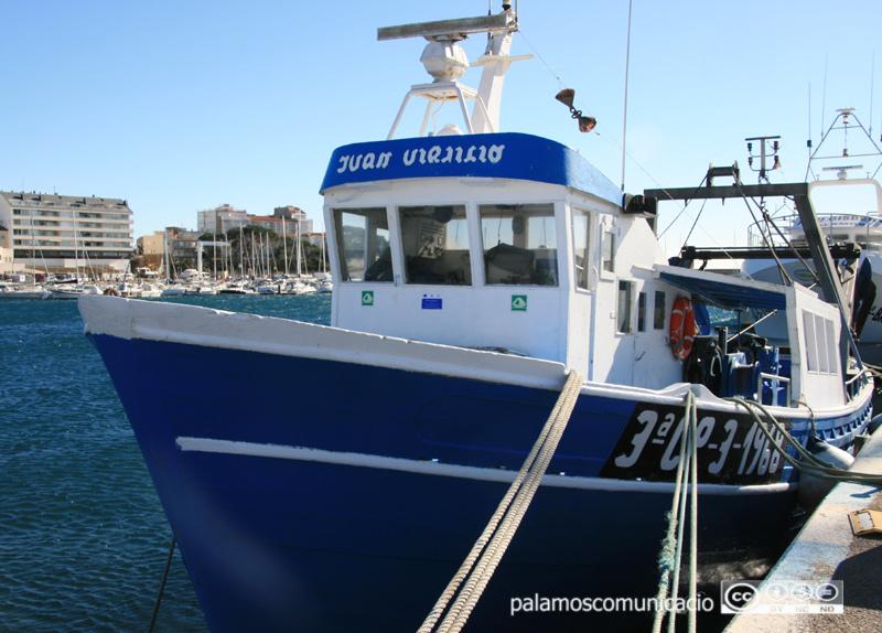 La barca Juan y Virgilio, una de les que ha sortit avui.