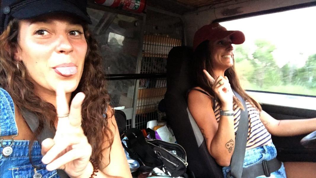 La Laura Mató i la Sandra Maruny viuen a Austràlia. (Foto: L. Mató).