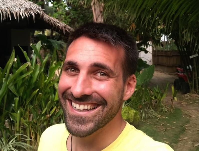 Ruben Hidalgo es va quedar atrapat a la illa de Siargao, a Filipines, i, de moment, no pot tornar. (Foto: R. Hidalgo).