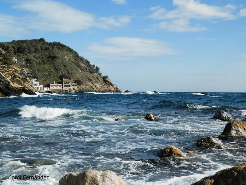 Temps assolellat i tràngol a la cala dels Pots el passat dijous. (Foto: J. Fernández tempspalamos.blogspot.com).