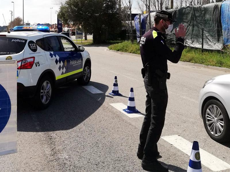 Hi haurà controls policials als accessos al municipi. (Foto: Ajuntament de Palamós).