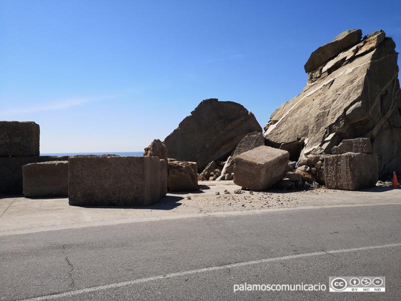 Estat actual dels blocs de formigó de La Pedrera.