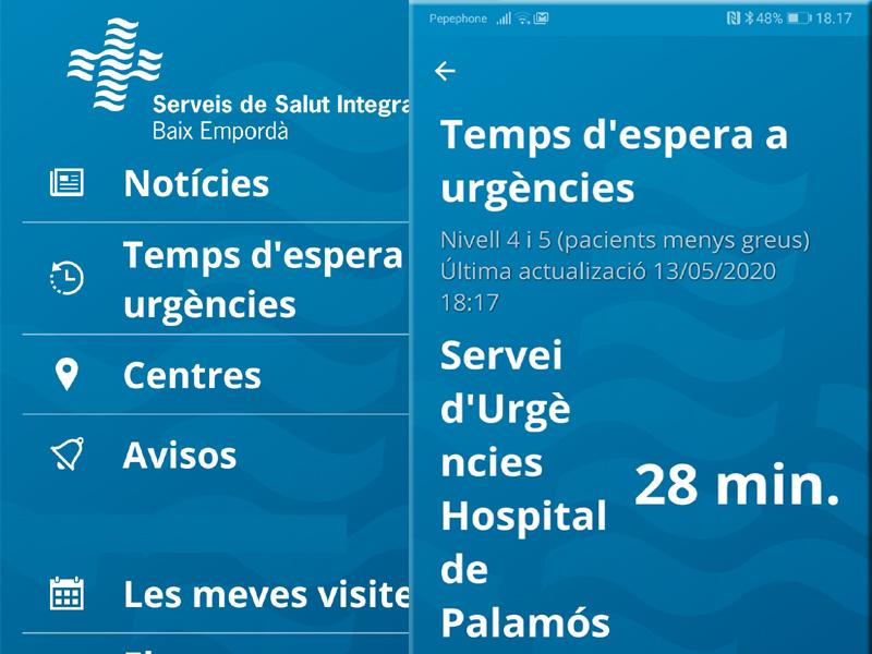 L'APP de SSIBE permet tenir avisos de les visites programades a l'hospital de Palamós o a l'atenció primària.
