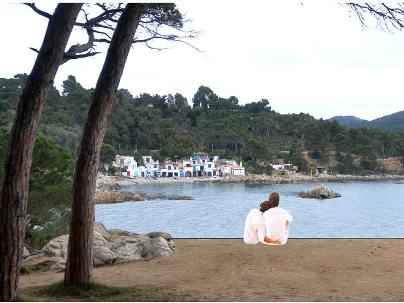 Mirador previst en el projecte, a la Pineda d'en Gori, amb vistes a S'Alguer.