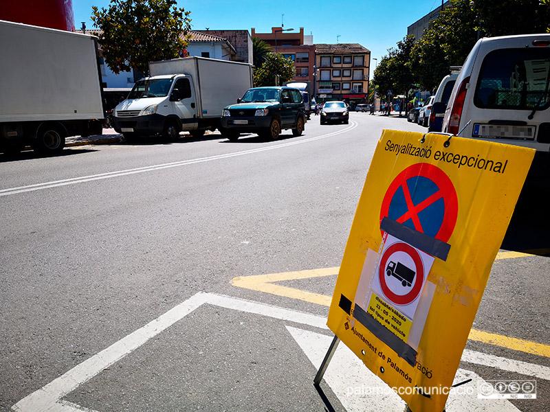 Es tallarà el trànsit demà al matí el tram de l'avinguda de Catalunya, entre Onze de Setembre i Josep Joan.