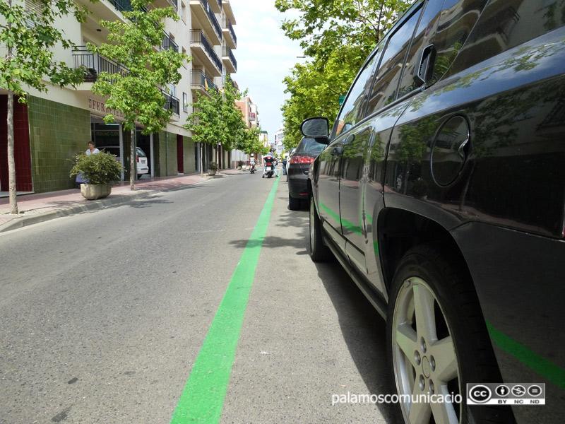 Zona verda a l'avinguda del President Macià.