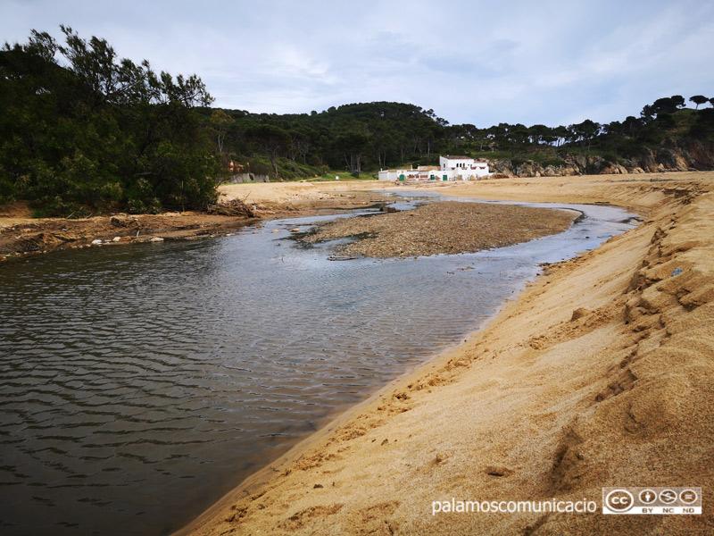 La platja de Castell, la setmana passada.