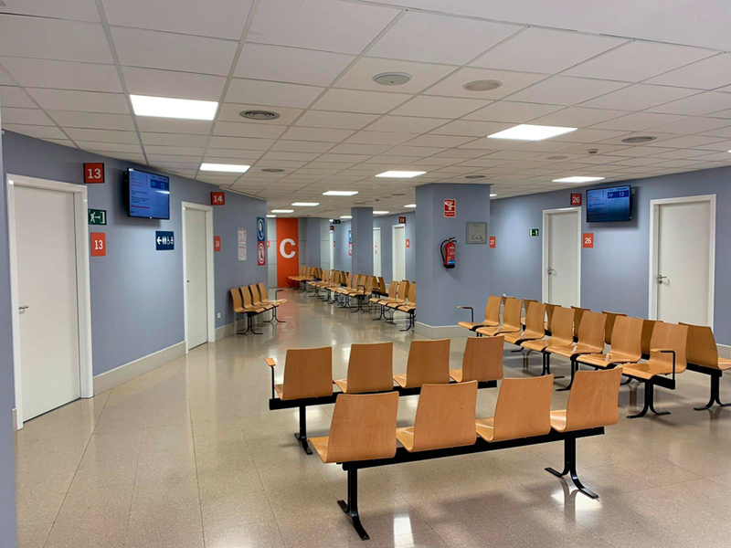 Consultes externes a l'hospital de Palamós.