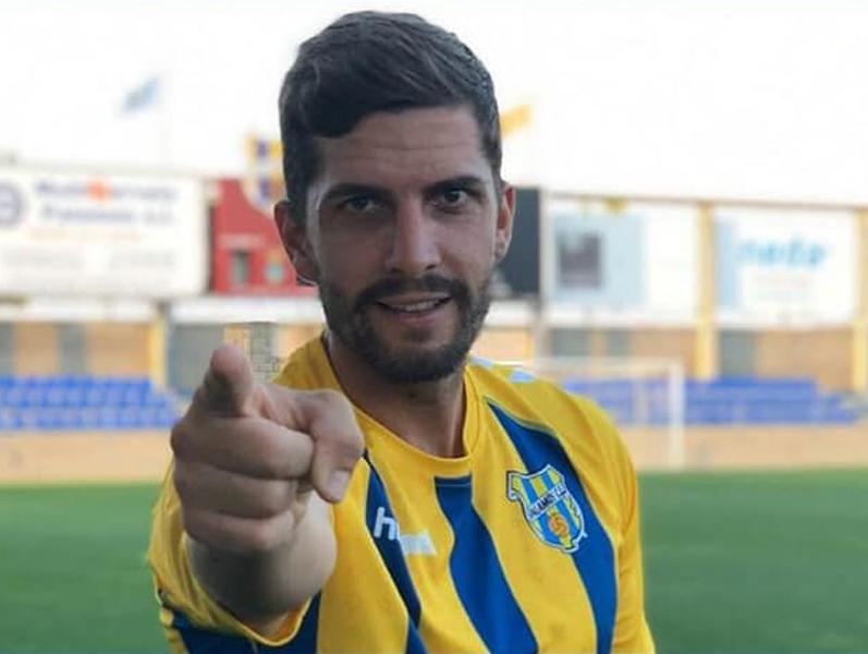 David Cano jugarà la seva novena temporada amb el Palamós CF. (Foto: Palamós CF).