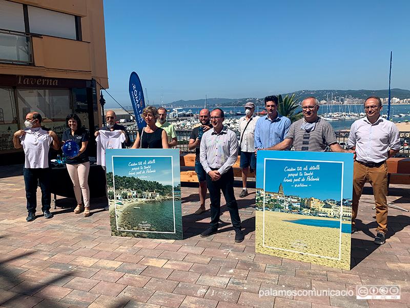 Fotografia de la presentació de la nova marca turística, aquest matí a la Plaça Murada.