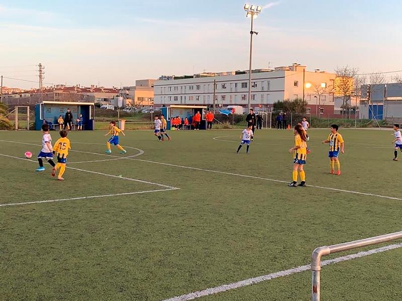 Un partit del benjamí de la Fundació Esportiva Palamós de la temporada passada.