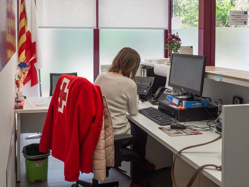 Oficines de Creu Roja Palamós. (Foto Montse G.Lera)
