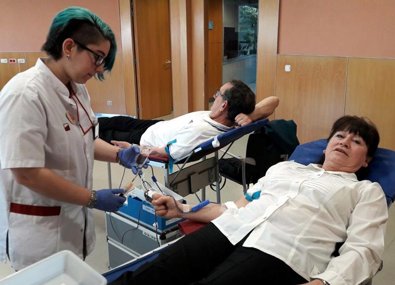 Donació de sang en una imatge d'arxiu. (Foto: Associació de Donants de Sang).