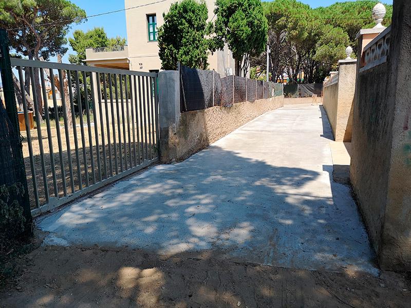 Estat actual del camí després de les obres de millora realitzades. (Foto: Ajuntament de Palamós)