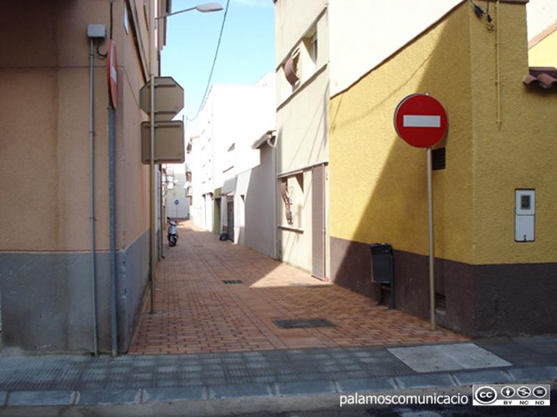 El carrer de la Justícia de Palamós.