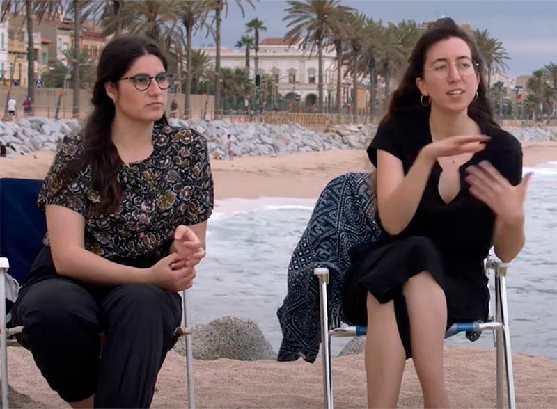 Laia Boquera i Marta Aracil, juntament amb Maria Boquera, guanyadores del premi Habitàcola 2020.