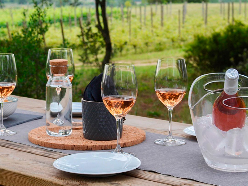 Tast de vins al Mas Geli de Pals. (Foto: instagram.com/masgelipals)