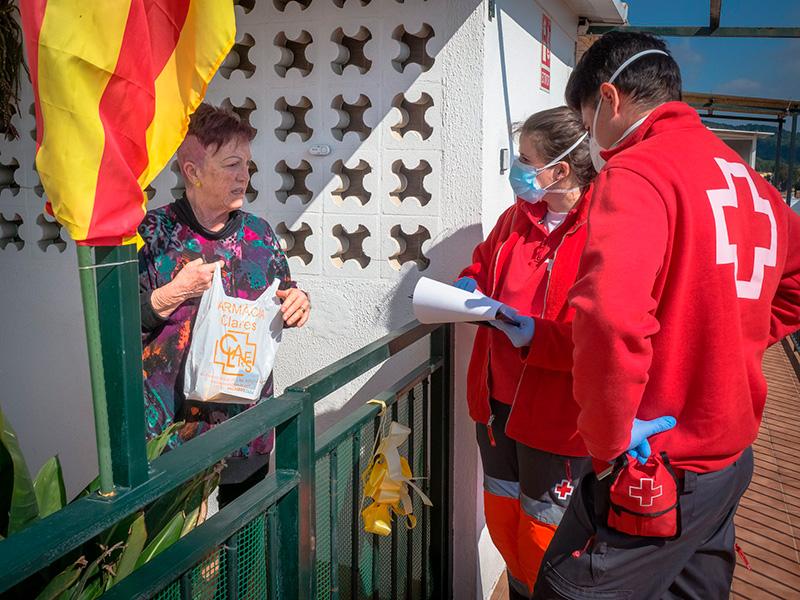 Creu Roja Palamós ha fet un centenar de serveis a domicilis.