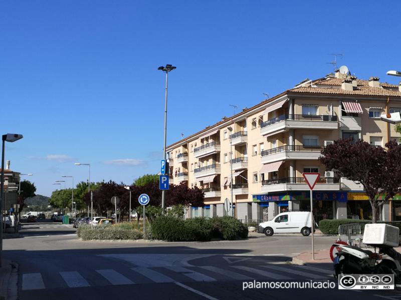 La cruïlla entre el carrer d'Enric Vincke i l'Avinguda de Catalunya.