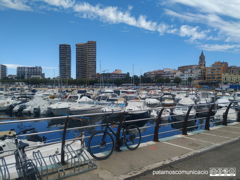 Embarcacions de nàutica recreativa al port de Palamós.