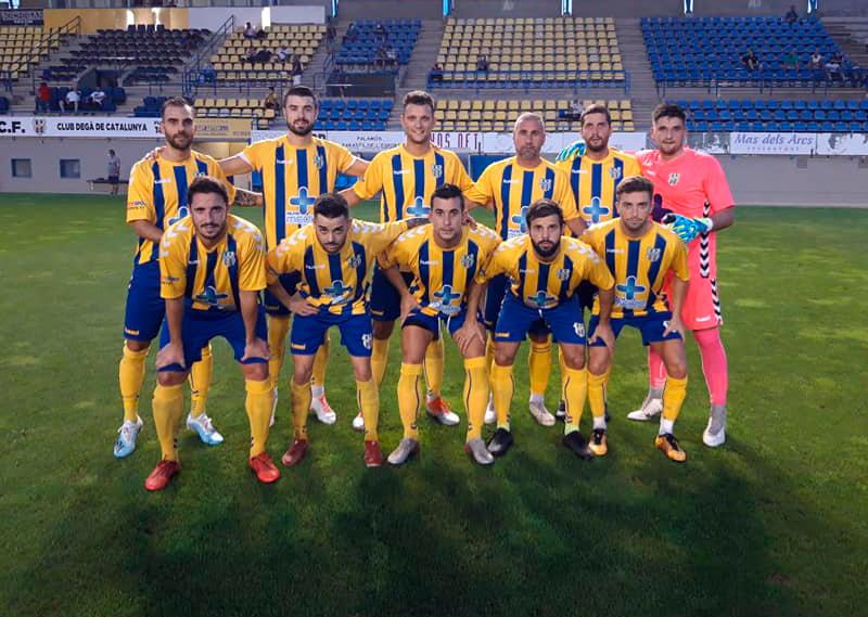 Onze inicial del Palamós en el partit d'ahir davant de la UE Quart. (Foto: Palamós CF).