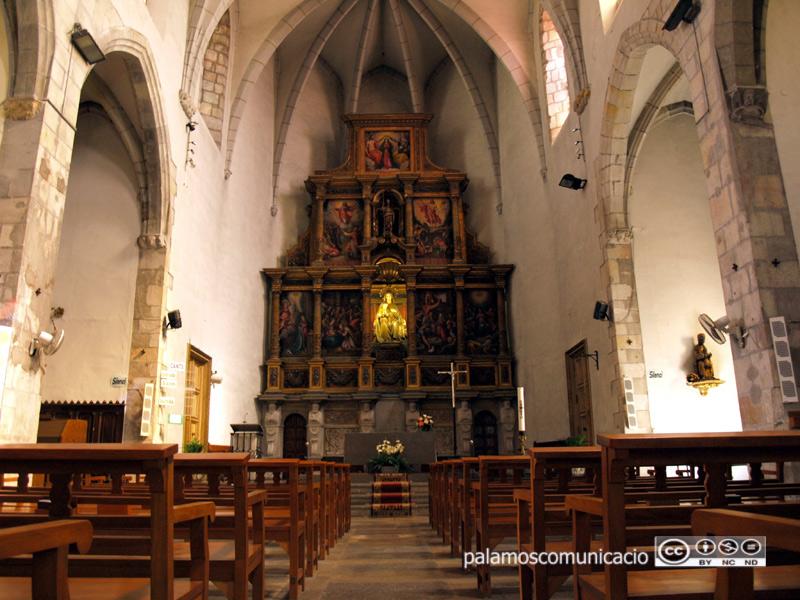 L'església de Santa Maria de Palamós.